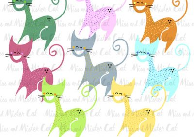 "Clip Art para ""Miss and Mister Cat""."