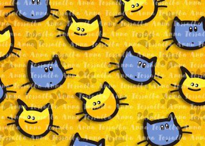"Estampado para ""Miss and Mister Cat""."